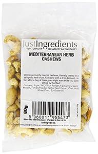JustIngredients Mediterranean Herb Cashews 80g (Pack of 4)