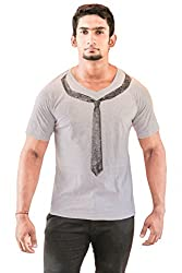 INDROW Men's V Neck T-Shirts (Small)