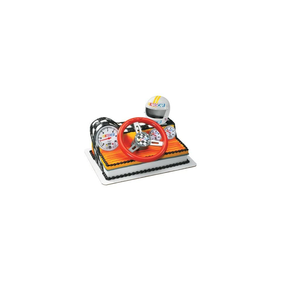 Nascar Racing Car Dashboard Cake Topper Kit  Home