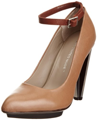 United Nude Women's Cross Ankle Strap Taupe Ankle Strap Heels 7941114401 4 UK