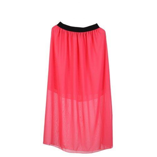 EOZY Falda Larga Para Mujer Chica Vestido De Gasa Verano Playa Color Rojo