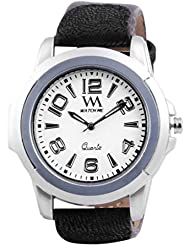 Watch Me Black Genuine Leather Analogue Watch For Men WMAL-018-w