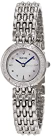 Bulova Womens 96R150 Diamond Petite Classic Watch