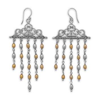 Ornate Cultured Freshwater Pearl Earrings