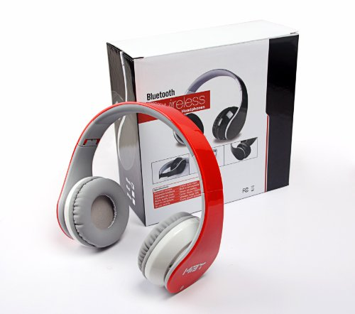 New Red Bluetooth Headphone With Nfc Function, Work For Samsung Android Smart Cell Phone; Apple Phone And Almost All Tablet Pc