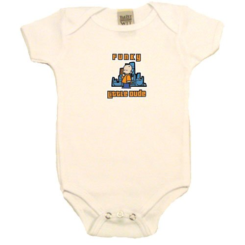 Funky Little Dude on Infant Onesie