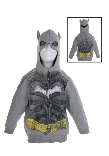 Little Boys' Silver Batman Costume Hoodie
