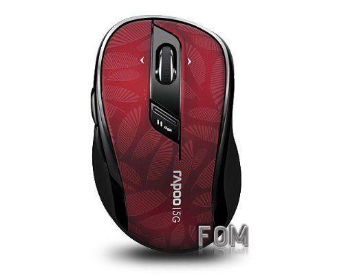 Fom Rapoo 5Ghz Wireless Optical Mouse (7100P) - Red
