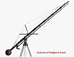 Proaim Alphabet 21ft Professional Film Camera Crane for 100mm Tripod Stand (P-A21-J) DSLR Video Camera Crane convertible to 18ft 15ft 12ft Jib | Free Storage Bag