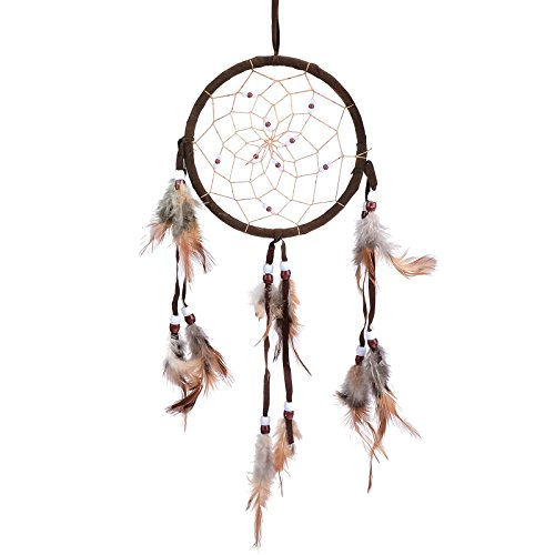 Cren® Handmade Dream Catcher with Feathers Hanging Approx 13cm/ 5.12inch Diameter 48cm/18.9inch Long