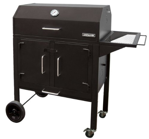 Landmann 590131 Black Dog 28 BBQ Charcoal Grill, 506-Square Inch, Black