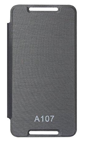 Dashmesh Shopping Premium Durable Flip Cover Case for Micromax CANVAS Fire 4 A107 Black