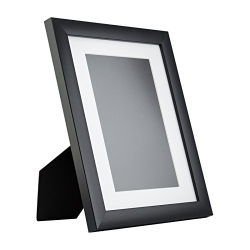 Craig Frames 1WB3 Contemporary Table-Top 8.5 x 11 Standing Picture Frame with Mat, Black (Table Top Frames compare prices)