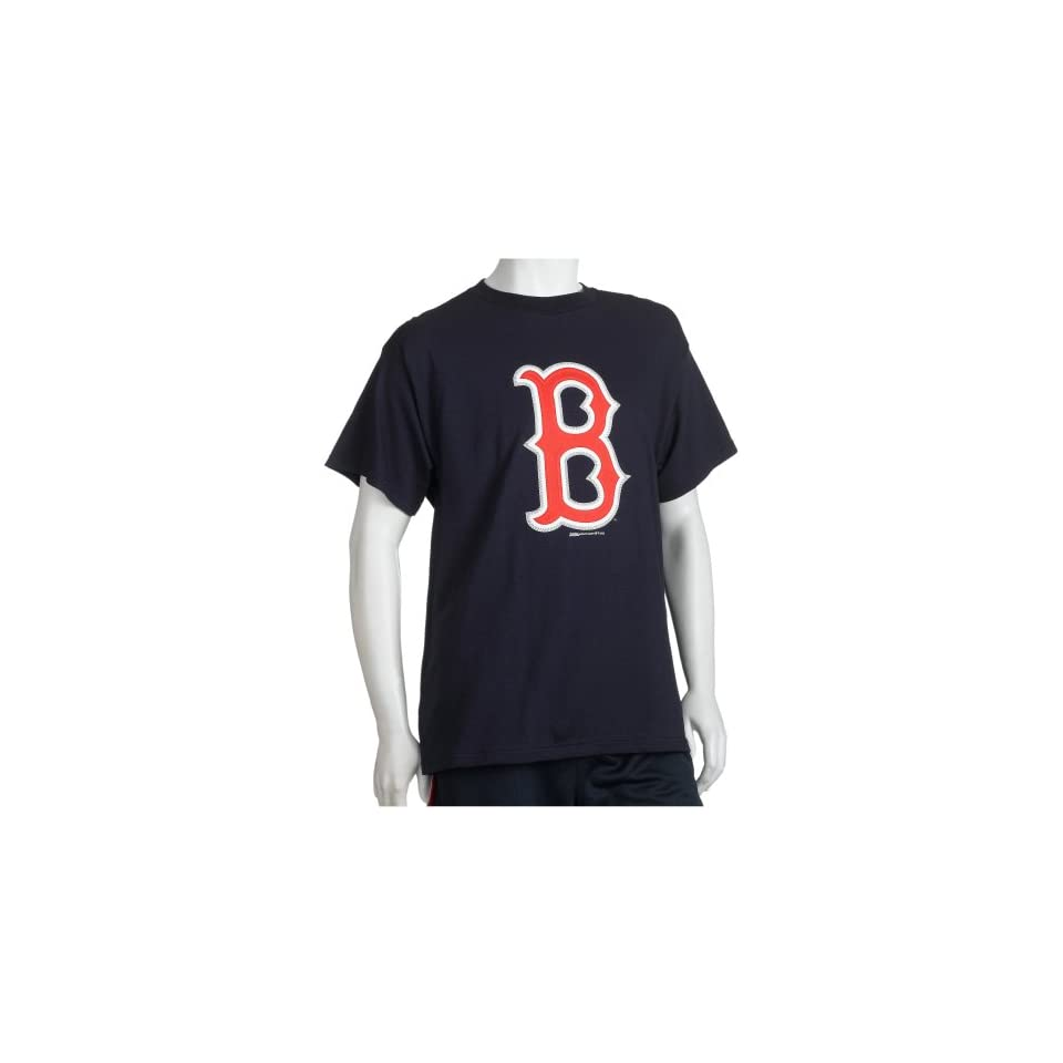 Stitches Athletic Gear Boston Red Sox Big Logo Adult T Shirt On