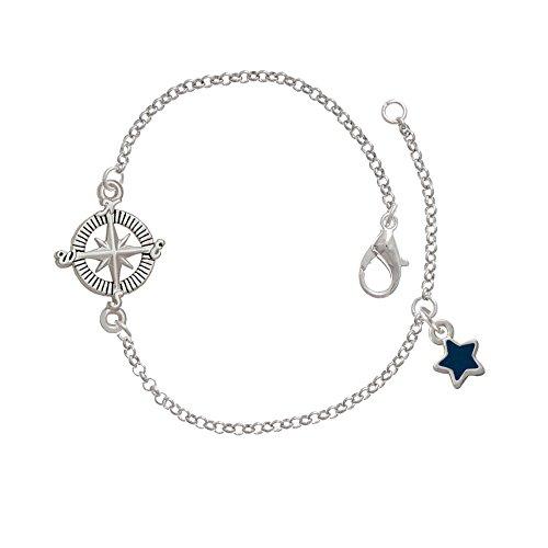 Mini 2-D Blue Star Delicate Compass Bracelet