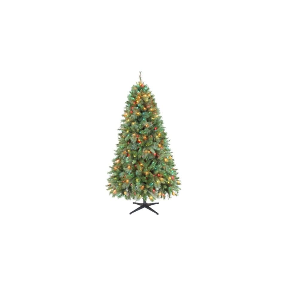 Jaclyn Smith 6.5ft Houston Mixed Pine Christmas Tree with Multi color Lights