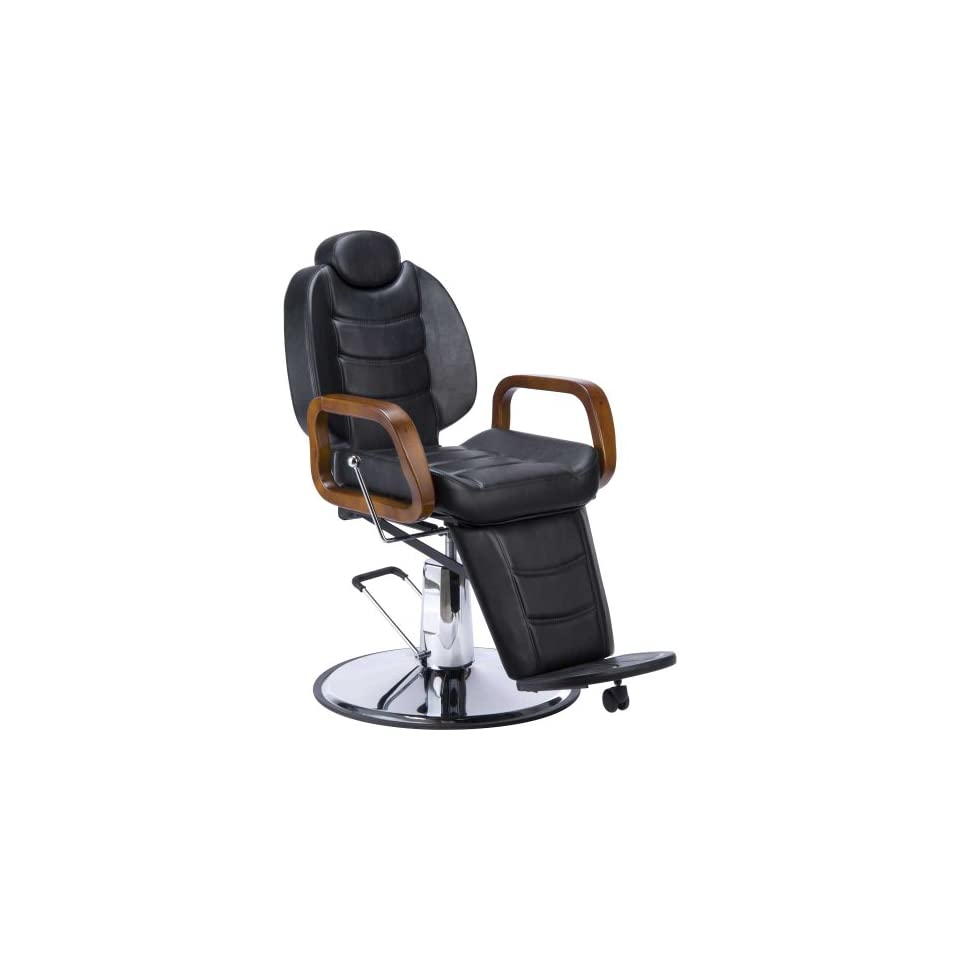 BEAUTY HEAVY DUTY BARBER CHAIR ALL PURPOSE RECLINING BARBER STYLIST CHAIR   STALLONE