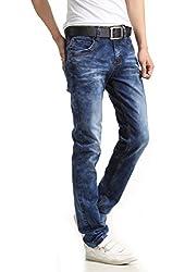 Demon&Hunter Slim Series Men's Straight Leg Fit Jeans DH8117