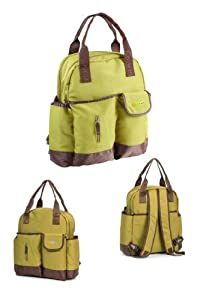Green Fashion multifunctional shoulder / backpack waterproof mommy baby diaper bag with changing mat babies care
