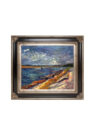 Vincent van Gogh Moored Boats Framed Hand-Painted Oil Reproduction