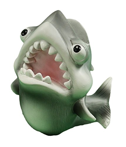 4 Inch Funny Shark Eyeglasses/Business Card Holder Figurine (Business Card Holder Shark compare prices)