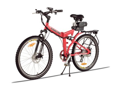 X-Treme Scooters Folding Electric Mountain E-Bike, Red