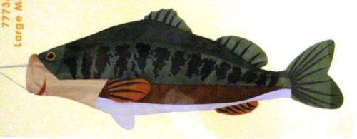 Large Mouth Bass Fish Windsock Hanging Decoration (52in)