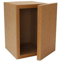 Parts Express Knock-Down MDF 0.23 cu. ft. Mini Bookshelf Speaker Cabinet
