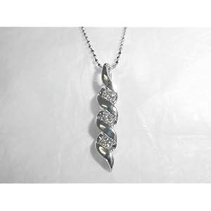【クリックで詳細表示】(オールジュエリープレミアム) Alljewelry Premium K18WGダイヤ ペンダント ネックレス AJSI02505