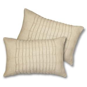 Lush Decor Lake Como Oblong Decorative Pillows, Taupe, Set of 2