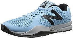 New Balance Men\'s MC996 Lightweight Tennis Shoe, Blue/Black, 12 D US