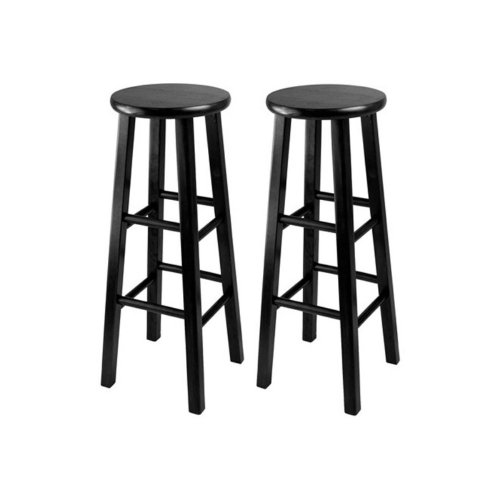 Winsome Obsidian 30 in. Square Leg Bar Stools - - Set of 2