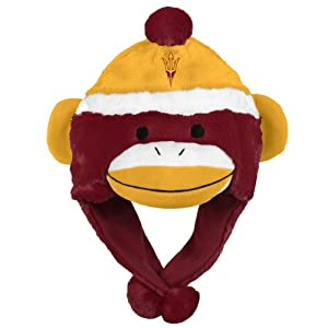 NCAA Arizona State Sun Devils Team Sock Monkey Hat by Forever Collectibles
