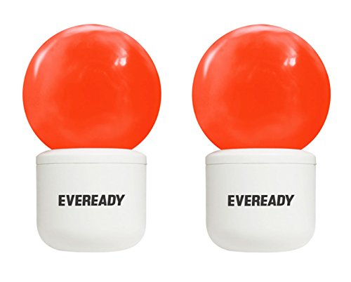 0.5W Deco Plug and Play L-type LED Bulb (Red, Pack of 2)