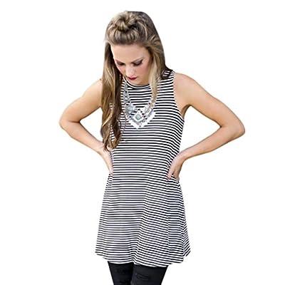 Coromose Fashion Woman Stripe Dress Summer