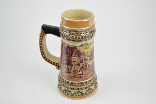 Ceramic Beer Stein With German Village Dancers 5liter