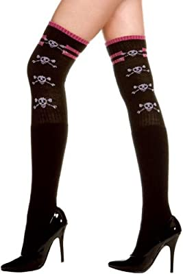 ToBeInStyle Women's Cross Bone Thigh Hi Stocking