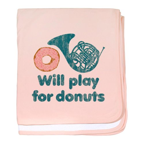 Cafepress Will Play Horn For Donuts Baby Blanket - Standard front-1040232