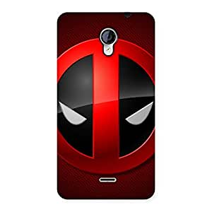 Enticing Dead Eye Round Red Back Case Cover for Micromax Unite 2 A106