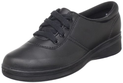 Grasshoppers Women's Ashland Smooth Sneaker,Black,8.5 W