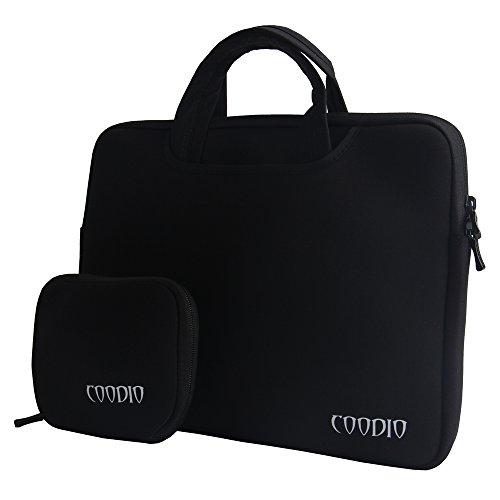 Coodio® Universal 13.3 Zoll Laptophülle Aktentasche Handtasche + Zubehör Tasche für Apple Macbook Air, Macbook Pro Retina (Fit all 13.3 inch ultrabook laptop notebook) - Farbe Schwarz