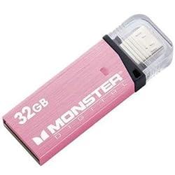 Monster Digital 32GB USB 3.0 Flash Drive, Pink (USBOM-0032-P)