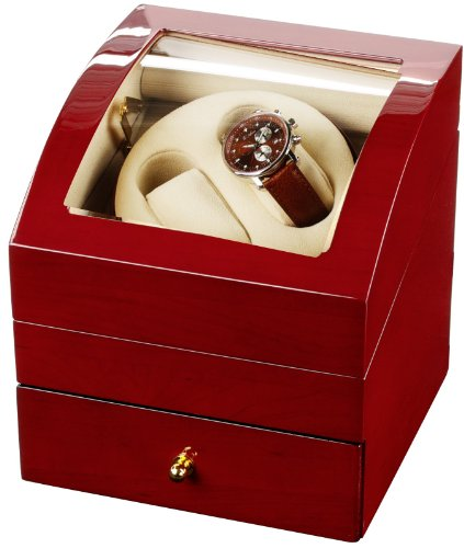 Auer Accessories Ares 721C Watch Winder For 2 Watches Cherry