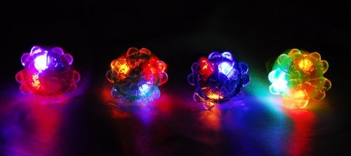 Ring shiny toy flash flower ring shining ( 25 pieces)