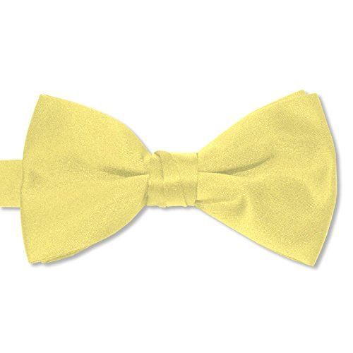 Tuxedo Park Boys' Deluxe Satin Bow Tie Tuxedo One Size Solid Canary Yellow