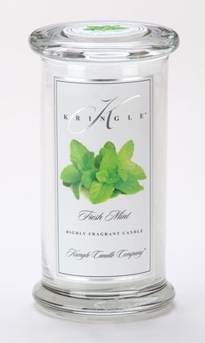 FRESH MINT Large Classic 95 Hour Apothecary Jar Candle by Kringle Candles
