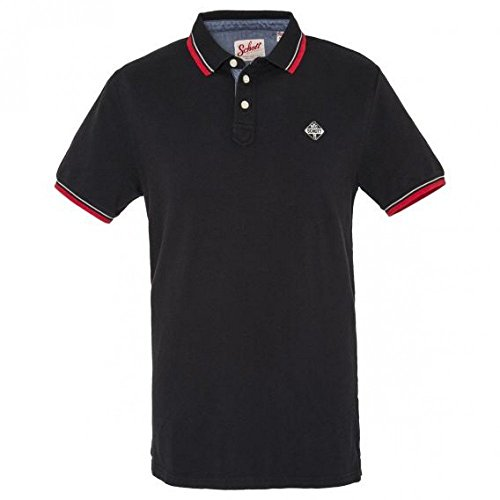 Schott NYC -  Polo  - Uomo nero Large