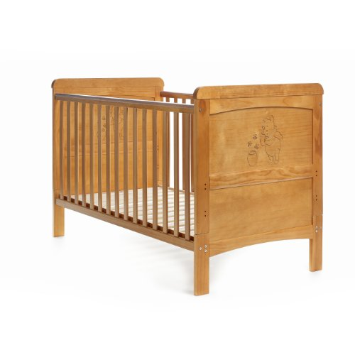 Disney Winnie the Pooh Deluxe Cot Bed - Country Pine