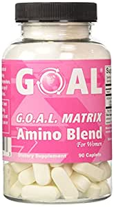 GOAL - G.O.A.L. MATRIX Amino Acids Complex Pills for Women 90 Caplets - High Potency L-Glycine L-Ornithine L-Arginine L-Lysine Combination Anti-Aging Blend - Best NO2 Supplement Tablets - Nitric Oxide Boosters