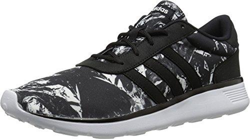 Adidas NEO Women's Lite Racer W Casual Sneaker,Black/Black/White,8 M US